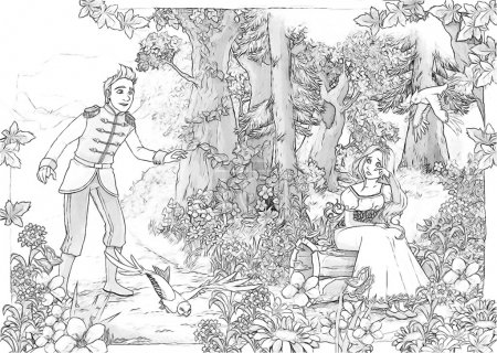 The sketch coloring page