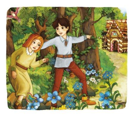 Cartoon fairy tale
