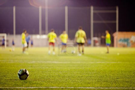 football match during training