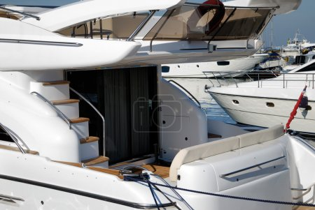 rear section of a yacht