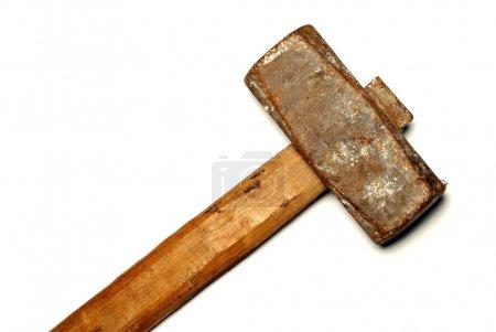 The big sledge hammer on white