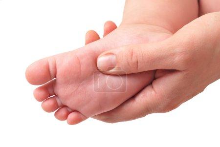Making massage of children's foot