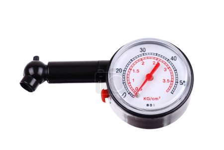 Manometer for measuring tire pressure