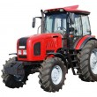 New red tractor isolated on white background...