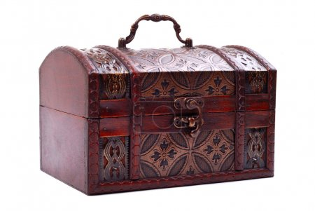 closed and locked treasure chest