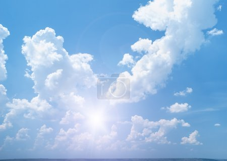 Photo for Bright sunny sky with clouds - Royalty Free Image
