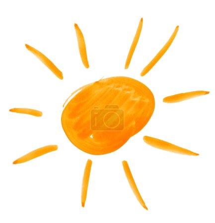 Photo pour Grand soleil. dessin aquarelle sur papier - image libre de droit