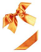 Oranžový luk z hedvábného pásu