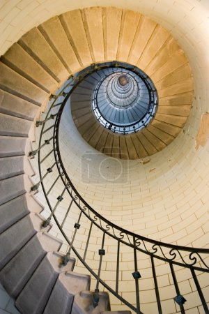 Photo pour Escalier de phare d'Eckmul, france Bretagne - image libre de droit