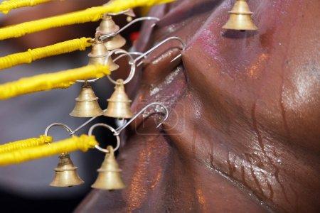 indian devotee piercing