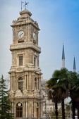 Clock tower - Dolmabahce palace in Istanbul, Turkey