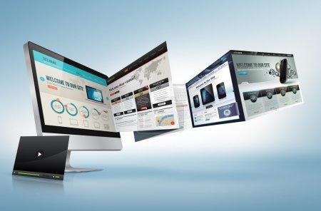Photo pour Concept de web design pour présentation, bannière, publicité - image libre de droit
