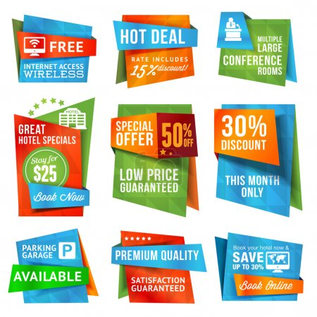 Special offer labels and banners