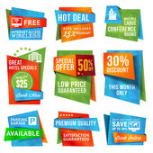 Set of vector special offer labels and banners