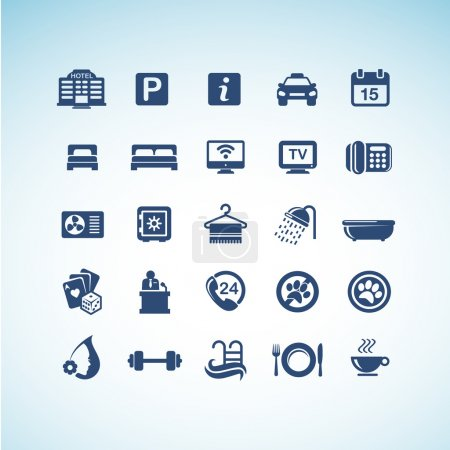 Photo for Set of vector hotel icons - Royalty Free Image