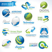 Set of vector arrows icons and elements