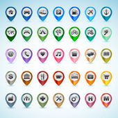 Set of vector GPS icons