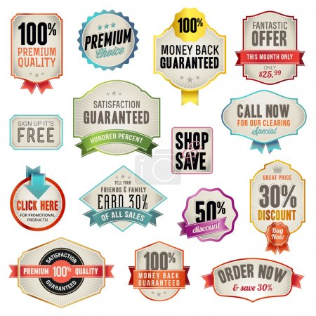 Illustration for Set of vector badges and labels for sale - Royalty Free Image