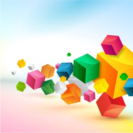 Illustration for Abstract colorful background vector design - Royalty Free Image