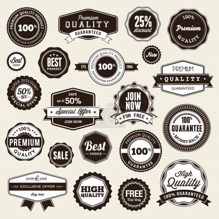 Illustration for Set of vector labels and stickers for sale - Royalty Free Image