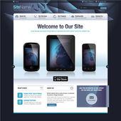 Modern design vector template for website