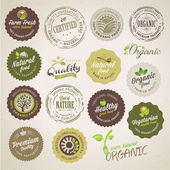 Organic food labels and elements