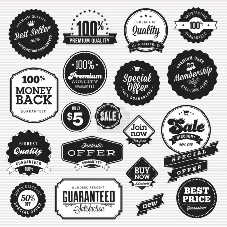 Illustration for Set of vector badges and stickers for sale - Royalty Free Image