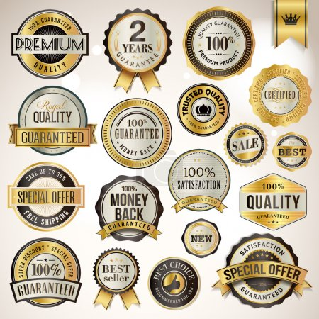 Illustration for Set of luxury badges and stickers for sale - Royalty Free Image