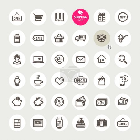 Photo for Set of vector shopping icons - Royalty Free Image