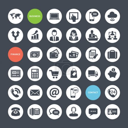 Set of icons for business, finance and communication