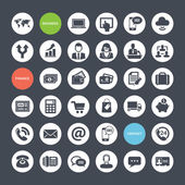 Set of icons for business finance and communication