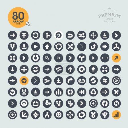Illustration pour Ensemble de différentes flèches - image libre de droit
