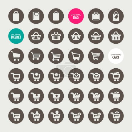 Set of different shopping icons...