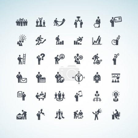 Illustration for Set of business concept icons - Royalty Free Image
