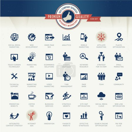 Set of business icons for internet marketing and services