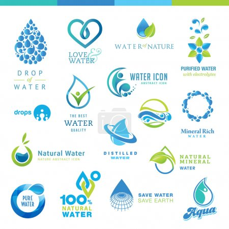 Illustration for Set of vector icons for waters - Royalty Free Image