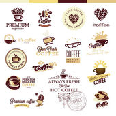 Set of icons and badges for coffee