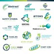 Set of different vector business abstract icons...