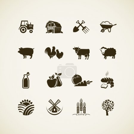 Illustration for Set of farm icons - Royalty Free Image