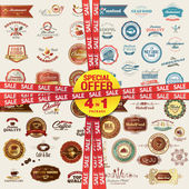 Set of labels banners stickers badges and elements for food and drink