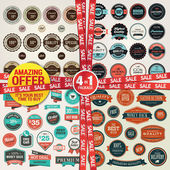 Set of labels banners stickers badges and elements for sale and premium quality Amazing offer 4 in 1 package