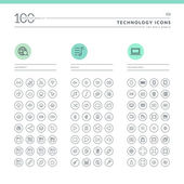 Icons for internet media and technology