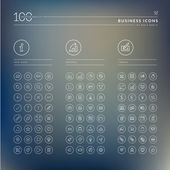 Set of info business and finance icons