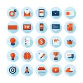 Flat design modern vector illustration icons set of web design seo business and marketing items Icons with long shadow in stylish colors isolated on white
