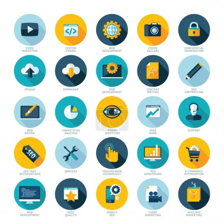 Photo for Set of modern flat design icons - Royalty Free Image