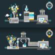 Concepts for web banners and printed materials...