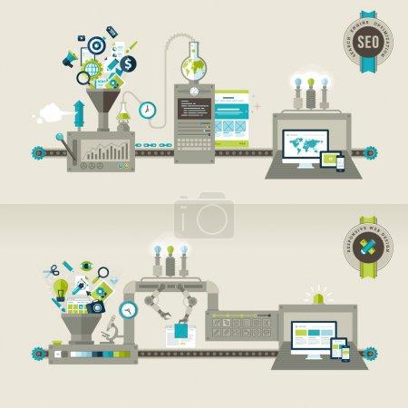 Illustration pour Concepts pour des bannières Web et des documents imprimés - image libre de droit