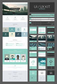 All in one set for website design that includes one page website templates ux and ui kit for website design