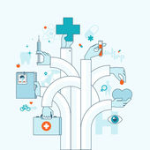 Flat design vector illustration concept on medicine theme