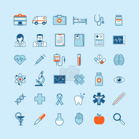 Illustration for Set of flat design vector icons - Royalty Free Image